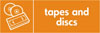 Tapes & Discs recycling logo