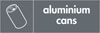 Aluminium Cans recycling logo