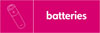 Batteries recycling logo