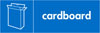 Cardboard recycling logo