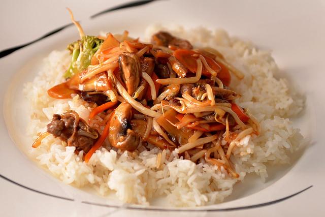 Chop Suey with rice