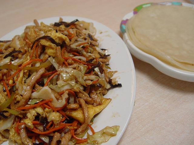 Moo Shu Pork and pancakes
