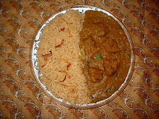 Dhansak with rice